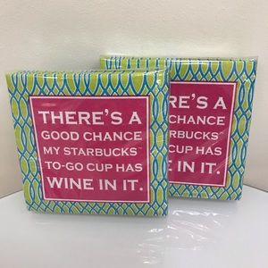 NWT Design there's a chance  80 beverage napkins